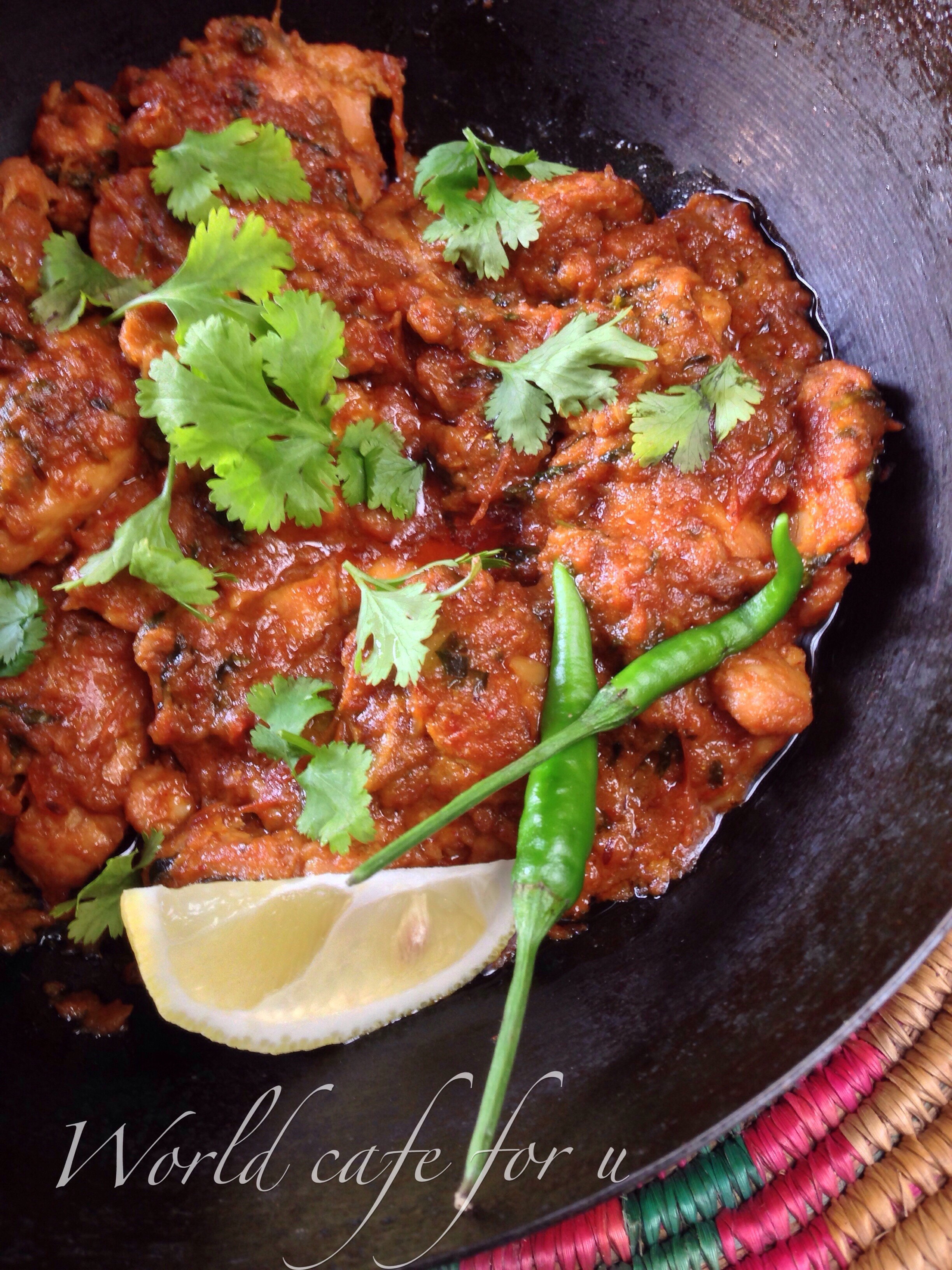 Lahori Chicken Karahi (Dhaba Style) – World cafe for u